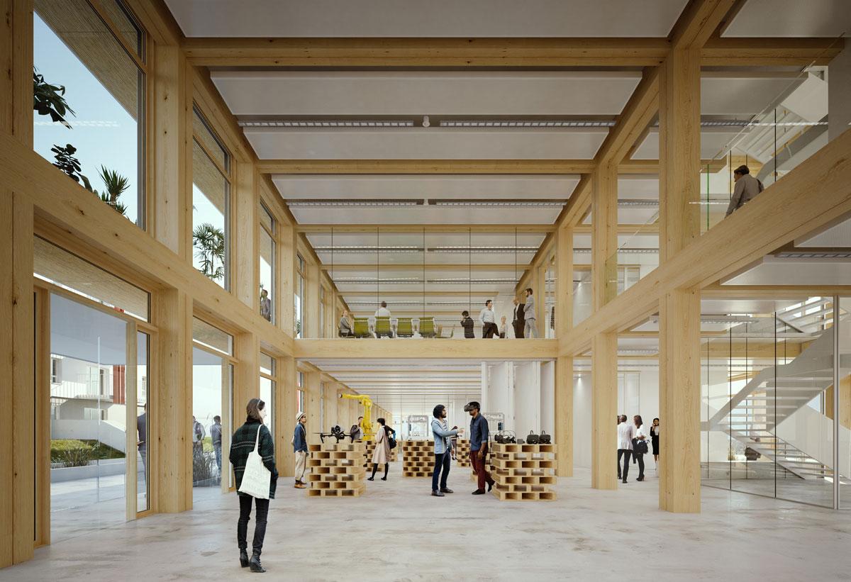 Immeuble bureaux bois